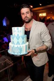 Ryan Labbe with his birthday cake at Pure Nightclub.