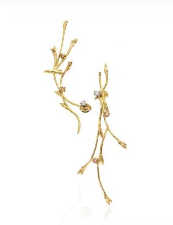 Golden Vine Earrings