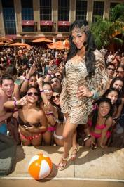 Nicole Scherzinger at Tao Beach.