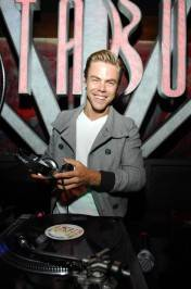 Derek Hough in the deejay booth.
