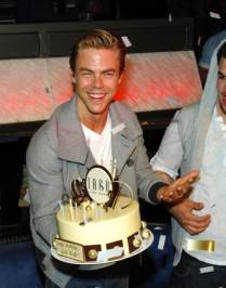 Derek Hough with his birthday cake.