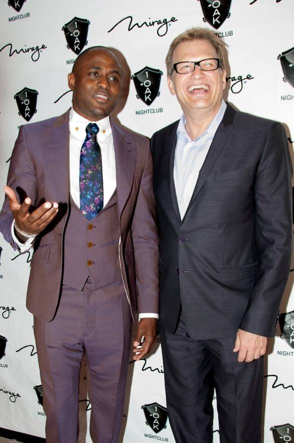 Wayne Brady and Drew Carey at 1 OAK 6.2.12