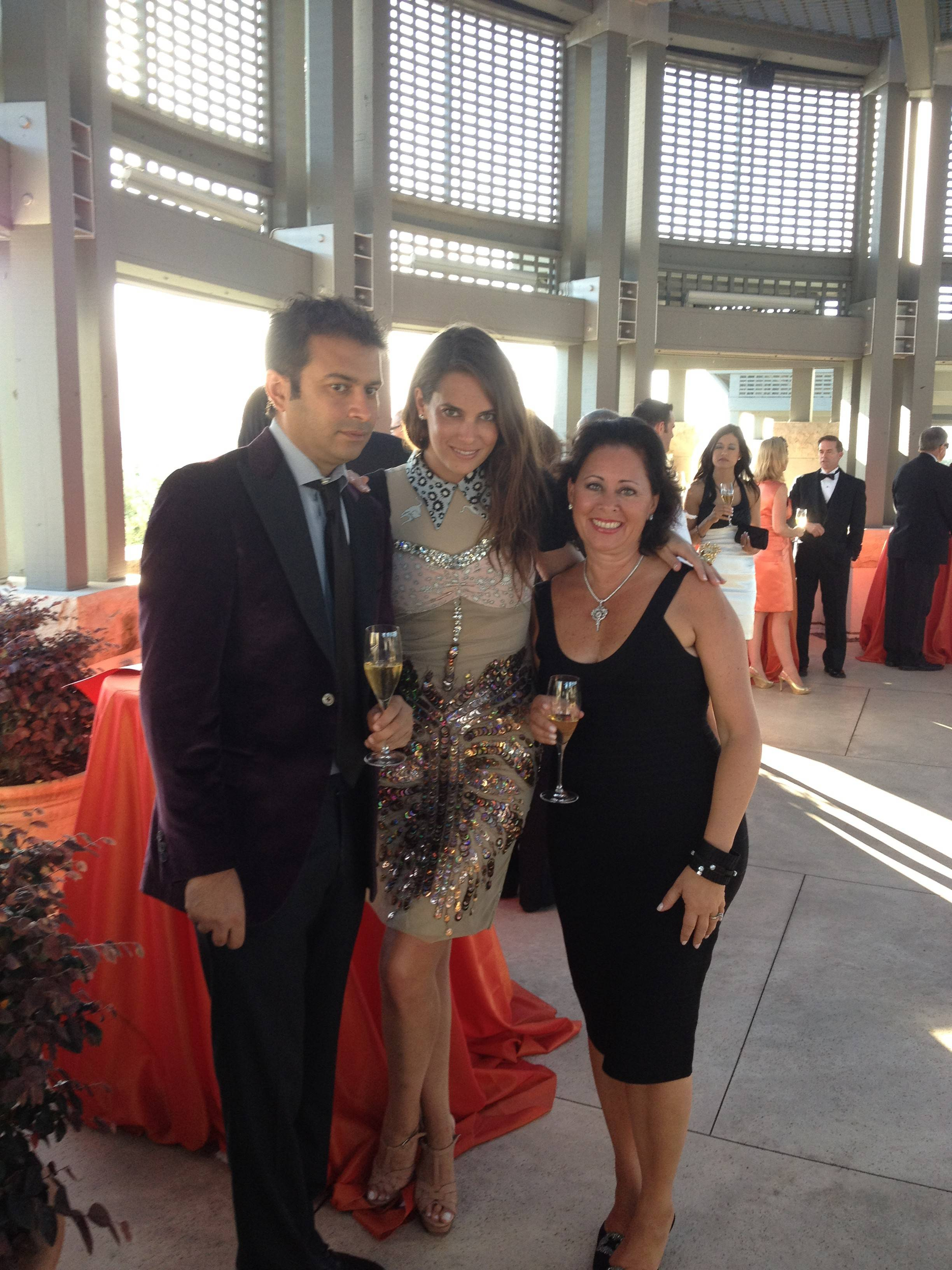 At the Opus One reception