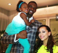 "Adrienne Bosh tweets a picture of husband Chris Bosh and his daughter. Caption: ""Today was a GREAT day!"""