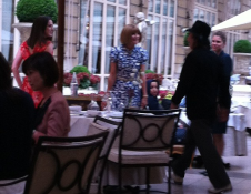 Anna Wintour meets with John Galliano in Paris