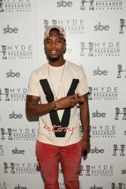 B.o.B on the red carpet at Hyde Bellagio