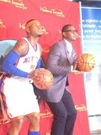 "I am truly honored. Once in a lifetime experience! Wow!"" —Carmelo Anthony, at Madame Tussauds"