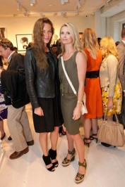 Connie Nielsen and Jennifer Siebel Newsom at the Mulberry store opening in San Francisco.