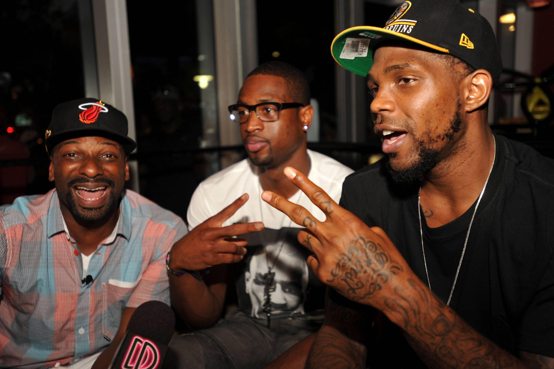 DJ Irie, Dwyane Wade, & Udonis Haslem