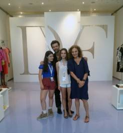 "Resort Presentation with Antonia and Talita—the new generation! Love, Diane.""—Diane von Furstenberg"