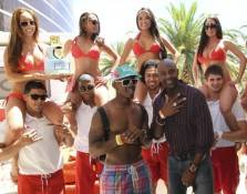 Jerry Rice Jr. with his father Jerry Rice to celebrate his 21st birthday at Encore Beach Club. Photos: Amanda Nowak
