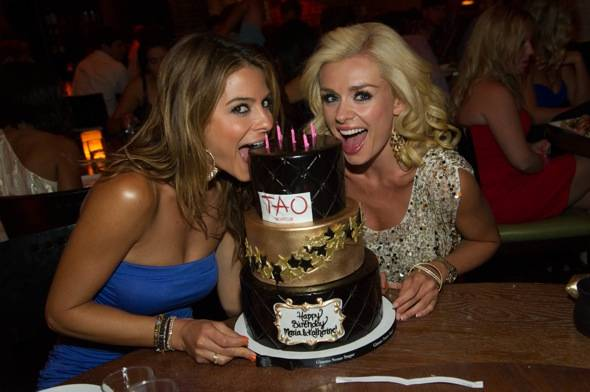 Maria Menounos and Katherine Jenkins at TAO