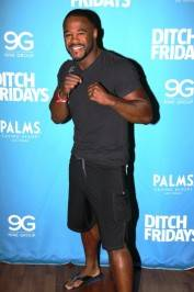 Rashad Evans at Palms Pool & Bungalows. Photos by Joe Fury/9Group Las Vegas