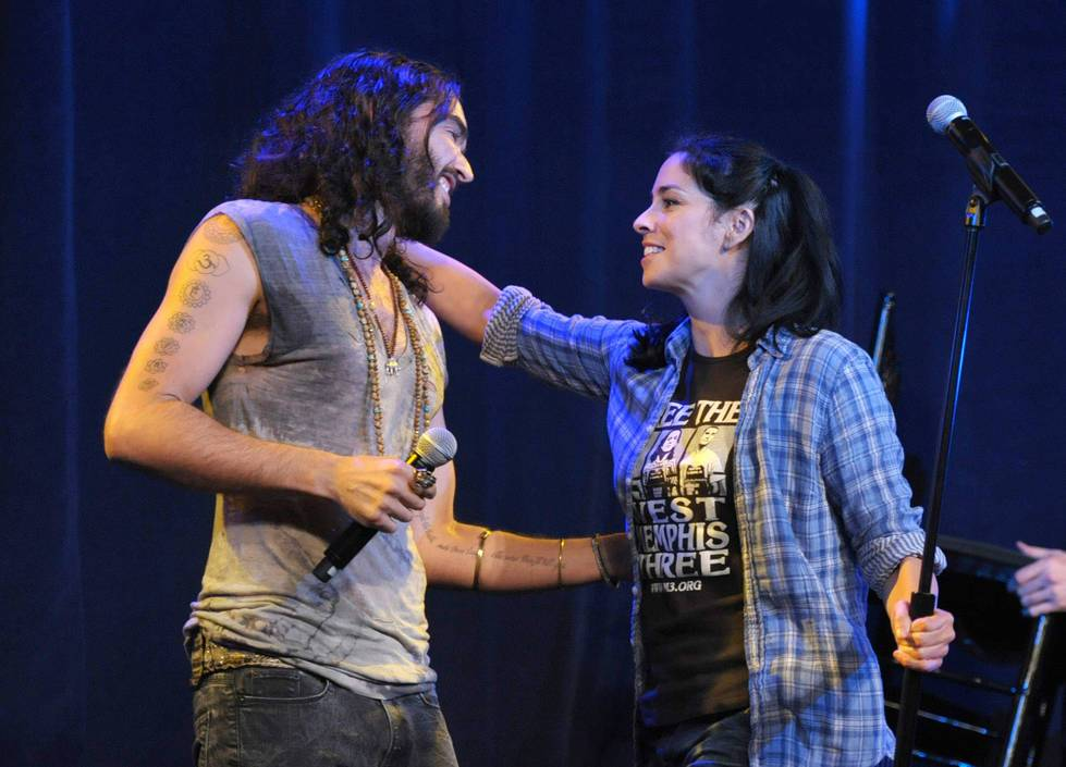 Russell Brand and Sarah Silverman