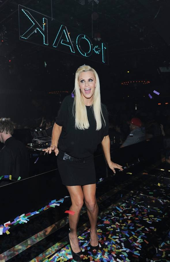 Jenny McCarthy At 1 OAK Nightclub At The Mirage In Las Vegas