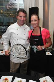 Chef Kerry Hefferman and tennis player Sam Stosur