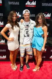 Cheryl Burke, Derek Hough and Karina Smirnoff at Marquee Dayclub.