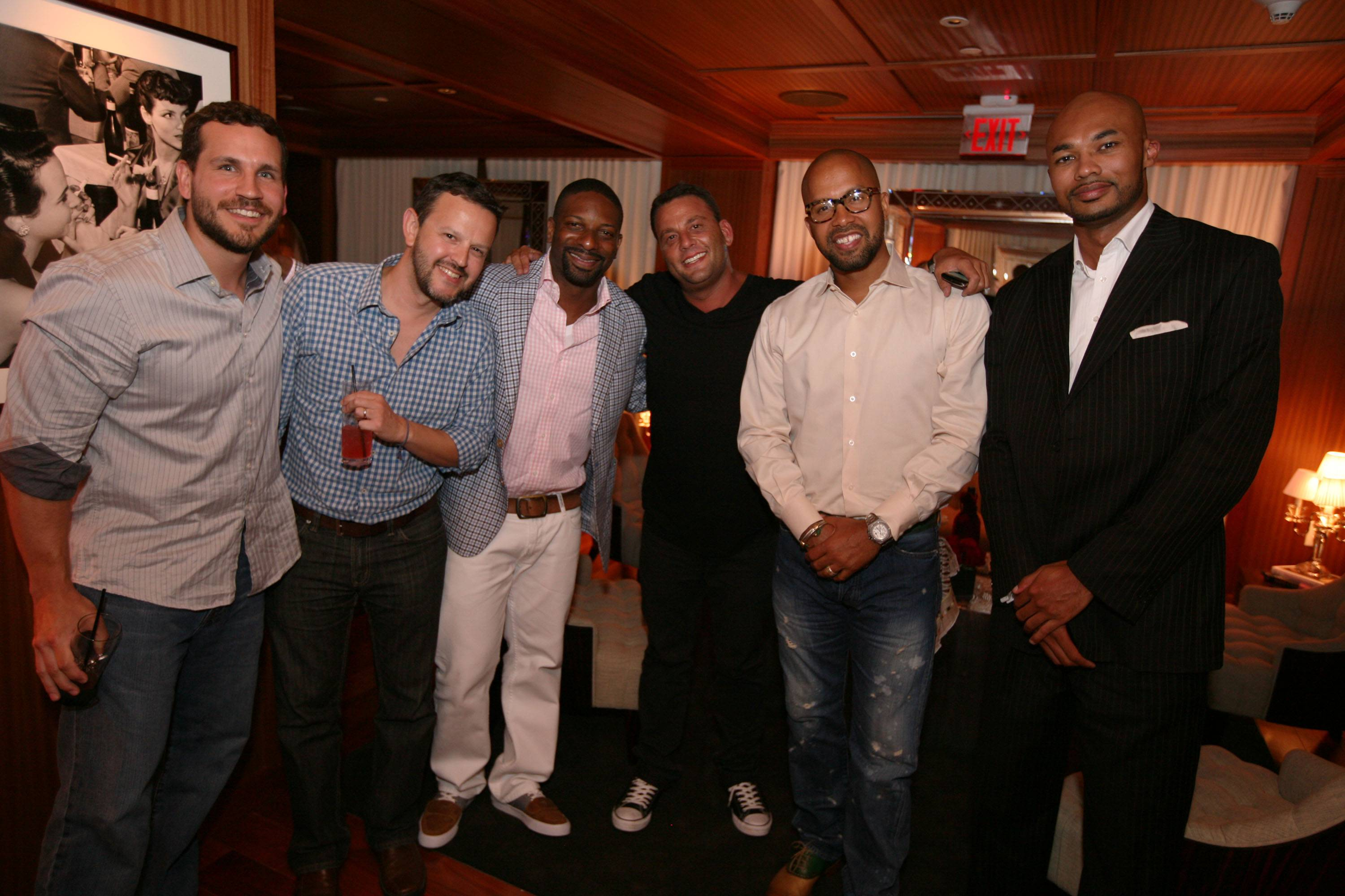 Corey Lawson, Fred Gonzalez, DJ Irie, David Grutman, Kenny Burns, & Darius Hines