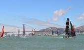 Final Day Fleet Race in front of Golden Gate Bridge