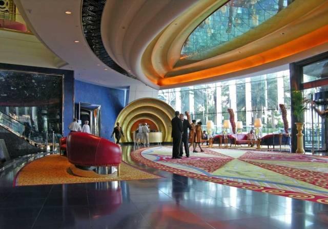 Dubai 07 Burj Al Arab 05 Inside Entrance Lobby