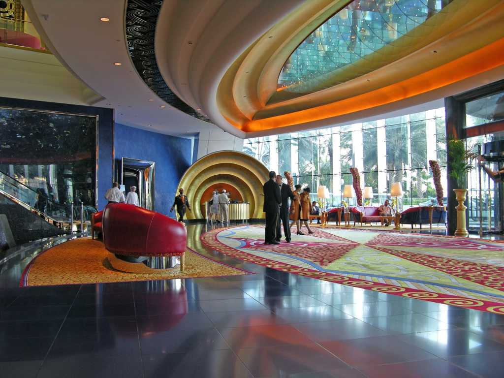 Dubai 07 Burj Al Arab 05 Inside Entrance Lobby