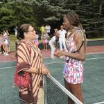 Fern Mallis and Venus Williams