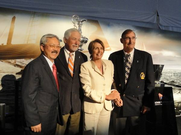 Mayor Edwin Lee, Mark Buell,  Nancy Pelosi and Commodor of Golden Gate Yacht Club Norbert Bajurin