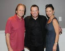 Michael Douglas and Catherine Zeta-Jones with Nathan Burton. Photos: Caesars Entertainment