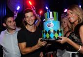 Parker Young celebrates his 24th birthday at Chateau.