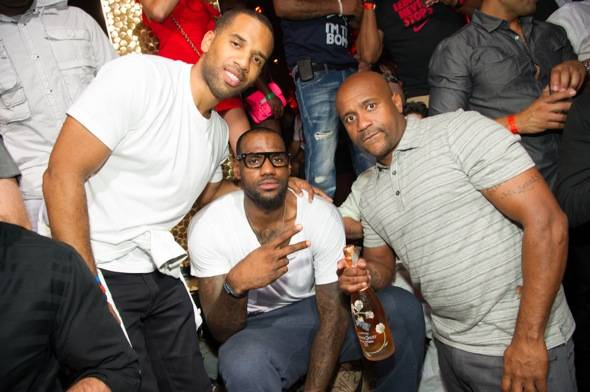 Lebron James of NBA's Miami Heat, at TAO Las Vegas