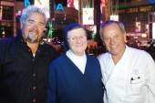 Guy Fieri, Sister Alice Marie Quinn and Wolfgang Puck