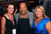 Lisa Marchese, Andrew Zimmern and Amy Rossetti