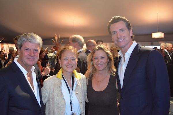 Yves Carcelle, Olivia Decker,  Christine Belanger and Lt. Governor  Newsom