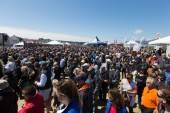 Huge spectators turn-out at Sunday's final race, photo courtesy of America's Cup Media Service