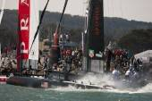Oracle Team Spithill finished in second place 3 seconds behind Luna Rossa Piranha at Fleet Race final.
