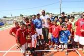 Refurbished another basketball court in PR. —Carmelo Anthony