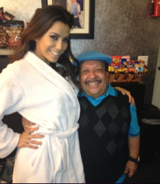 Backstage at Chelsea Lately with Chuy!–Eva Longoria
