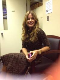Getting ready to be on The Couch on CBS.—Kelly Bensimon