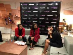 On the radio at SAKS for Fashion's Night Out...where r u tweeties! —Rachel Roy