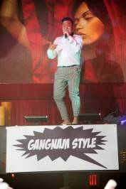 "Korean rapper Psy performs ""Gangnam Style"" at Tao nightclub on Saturday"