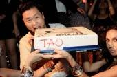 Psy at Tao with a cake from Gimme Some Sugar.