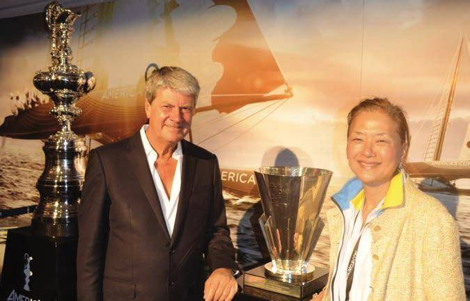 Louis Vuitton Chairman/CEO Yves Carcelle with the 2 Cups