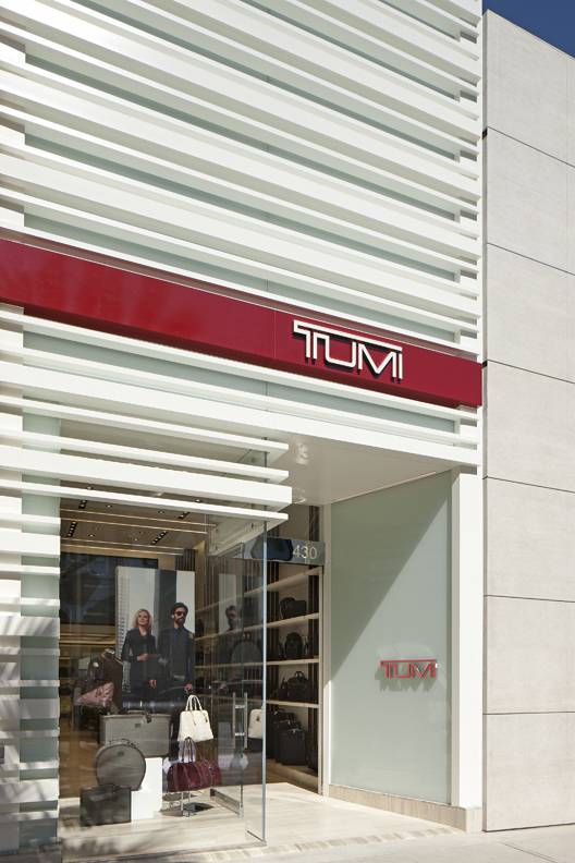 TUMI Store Beverly Hills CA. Rodeo Dr.  photographed by Tom Bonn