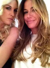 So much fun with Tinsley Mortimer at the fashion plate show. —Kelly Bensimon