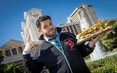 Adam Richman in front of Caesars Palace, home of the 2012 WFC Final Table that takes place Sunday, Nov. 4.
