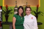Diego executive chef Christina Olivarez and Food & Wine's Gail Simmons at a tequila tasting event.