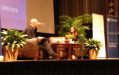 Some photos for you on stage at Wharton in Philly!—Eva Longoria