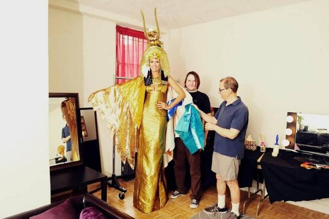Cleopatra comes to life Bill Corso & Martin Izquierdo are amazing! Wait until Heidi Klum Halloween night to see the final! —Heldi Klum