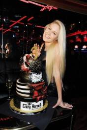 Heidi Montag shows off Crazy Horse III's three-year anniversary party cake from Gimme Some Sugar.