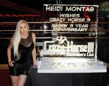 Heidi Montag heats up the ice sculpture at Crazy Horse III.